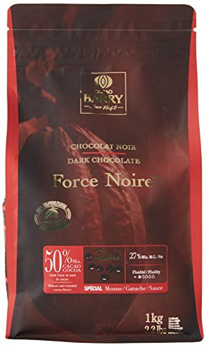 COCOA BARRY 50% Min Cacao Chocolate Force Noire Pistoles 1 kg